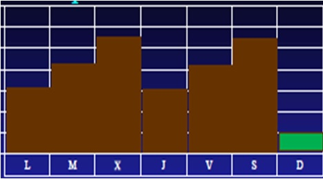 Gráfico Microciclos de Dos picos